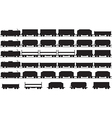 Trains silhouette vector image