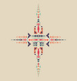tribal element in aztec stile tribal design vector image