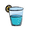 Natural water glass vector image