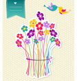 Social birds flowers background vector image