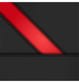 black leather diagonal panels background on red vector image