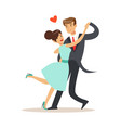 elegant couple in love dancing together in vector image vector image