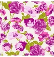 Vintage Seamless Roses Background vector image