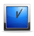 Square blue clock vector image
