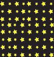Yellow star pattern vector image