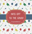 Graduation Celebrating Invitation or Postcard vector image