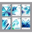 Blue business covers collection vector image