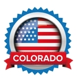 Colorado and USA flag badge vector image