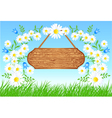 meadow flowers vector image
