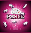 on a casino theme with color playing chips poker vector image