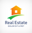 Real estate logo icon design template with house vector image