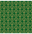 Seamless Damask Wallpaper 1 Green Color vector image