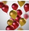 Red And Golden Balloon Bunch vector image