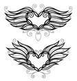 two filigree hearts vector image vector image