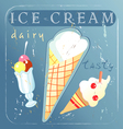 A delicious different ice cream vector image