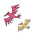 A pair of birds vector image vector image