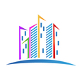 Buildings colorful Real estate logo vector image
