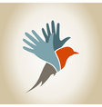Bird a hand2 vector image