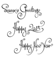 3 New Year 2013 Handwriting Wishes vector image