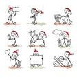 funny man christmas vector image