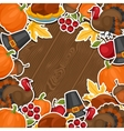 Happy Thanksgiving Day background design with vector image