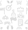 Victory seamless pattern vector image