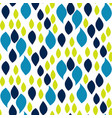 abstract blue and green drop petals pattern vector image
