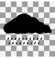 Black Cloud Icon on transparent vector image