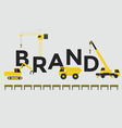 Engineering building text Brand vector image