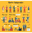Hipster Infographics vector image