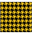 Houndstooth Pattern Yellow Design vector image
