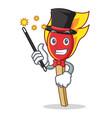 magician match stick mascot cartoon vector image