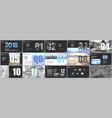 presentation templates calendar for 2018 year vector image