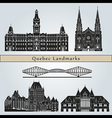 Quebec landmarks and monuments vector image