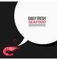 Shrimp Speech Bubble Says Fresh Food vector image