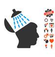brain washing icon with valentine bonus vector image