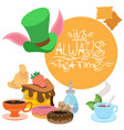 to the fairy tale alices adventures in wonderland vector image