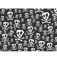 seamless skulls and bones background vector image