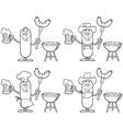 Sausage cartoon vector image
