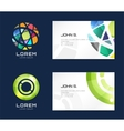 globe logo business card template Abstract vector image