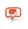 Remove letter message sticker orange vector image