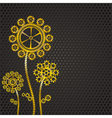 golden gear flowers vector image