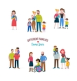 gay family different kind of families vector image vector image