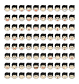 Set of 80 face emotions vector image