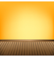 Brown wood floor texture and Yellow wall vector image