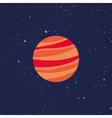 Abstract Cartoon planet vector image