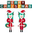Dragon Santa Claus vector image