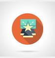 entertainment show flat round icon vector image