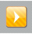 Right arrow icon Glossy yellow button vector image