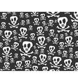 Seamless skulls and bones background vector image